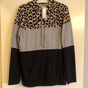Pink clover LARGE thin sweater